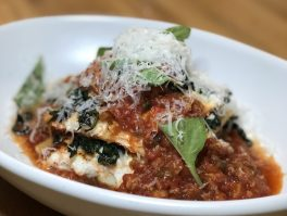 Lasagna at True Food Kitchen